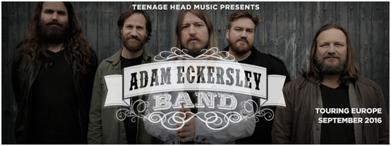 Adam Eckersley Band Tour 2016